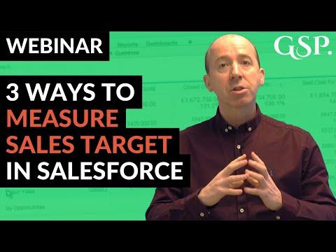 Webinar | 3 Ways to Measure Targets in Salesforce
