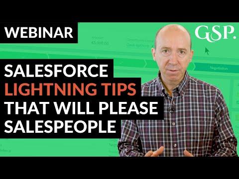 Salesforce Lightning Tips That Will Please Salespeople (Webinar Recording)