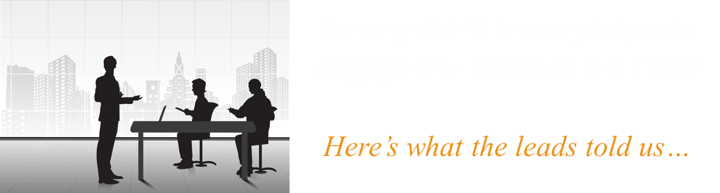 We contacted the marketing leads to find out why they hadn't spoken to salespeople at the time.