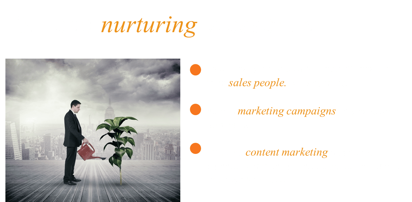 Lesson 3 - lead nurturing is essential to produce sales-ready leads from cold lists.