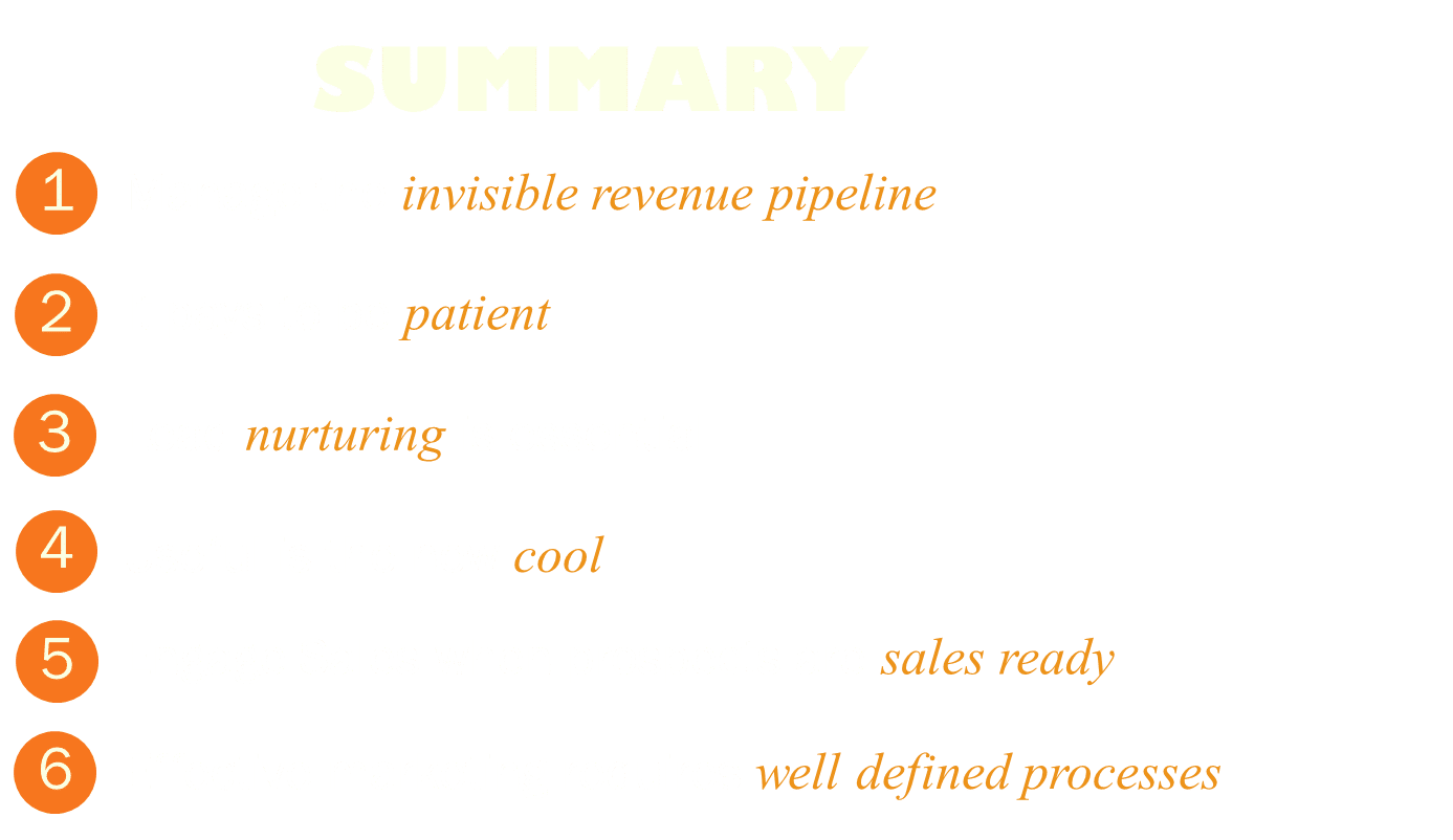 Apply these 6 lessons to create sales-ready opportunities from your marketing leads.
