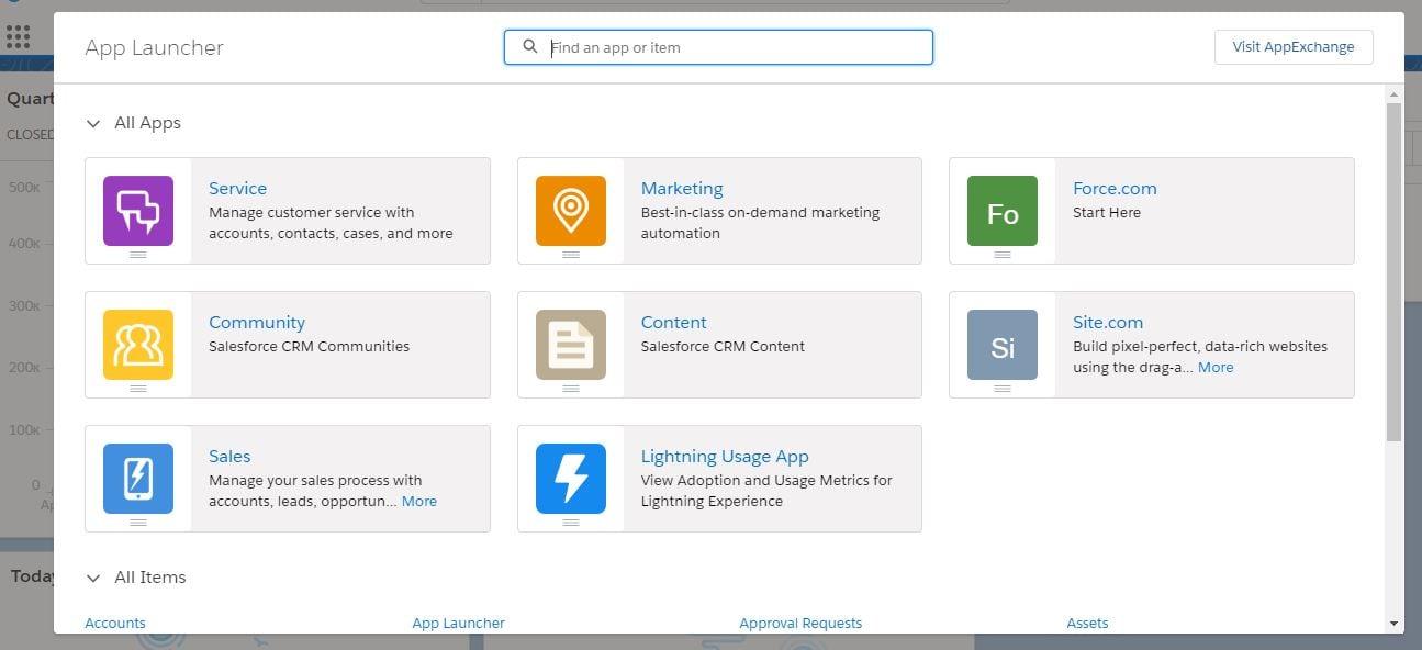 Customize the Lightning App menu
