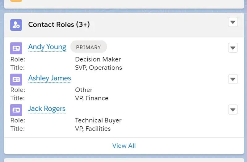After saving, all Contacts are included as Contact Roles on the Opportunity