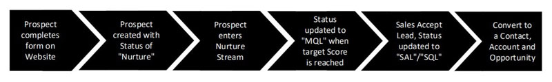 Simple lead process in Salesforce.