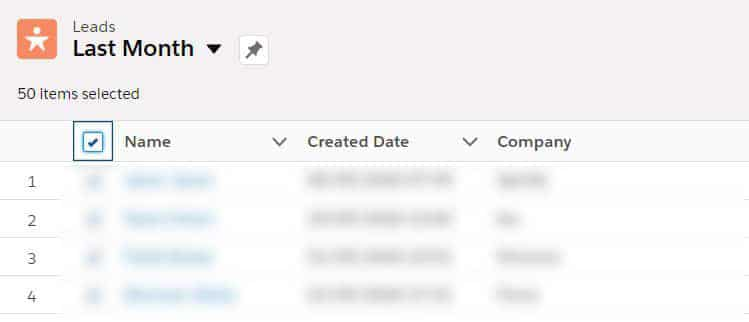 Add leads or contacts to a Salesforce campaign directly from a list view