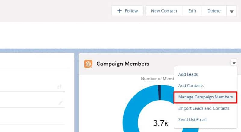 Import a list into the Salesforce Campaign using the Manage Campaign Members option