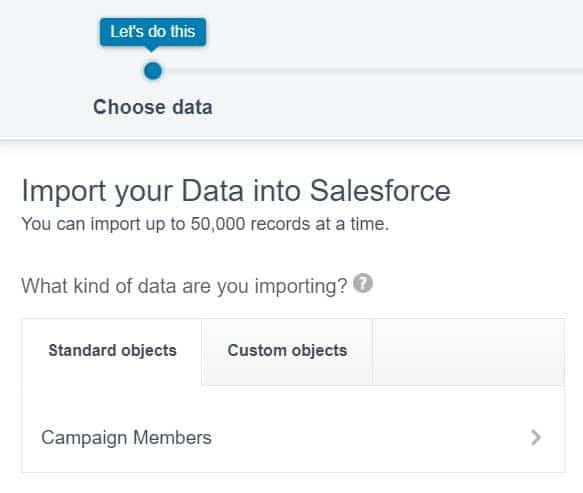 Import a list of Campaign Members into the Salesforce Campaign