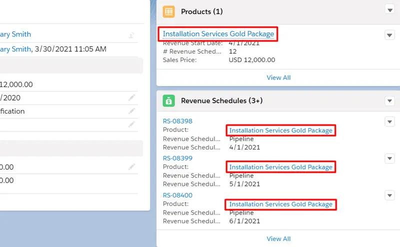 Automatic creation of Revenue Schedules after adding a product to the Opportunity